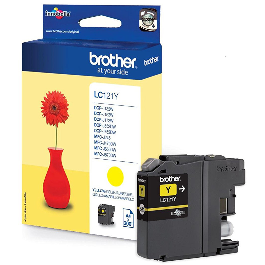 Original Brother LC121 Yellow Ink Cartridge (LC121Y)