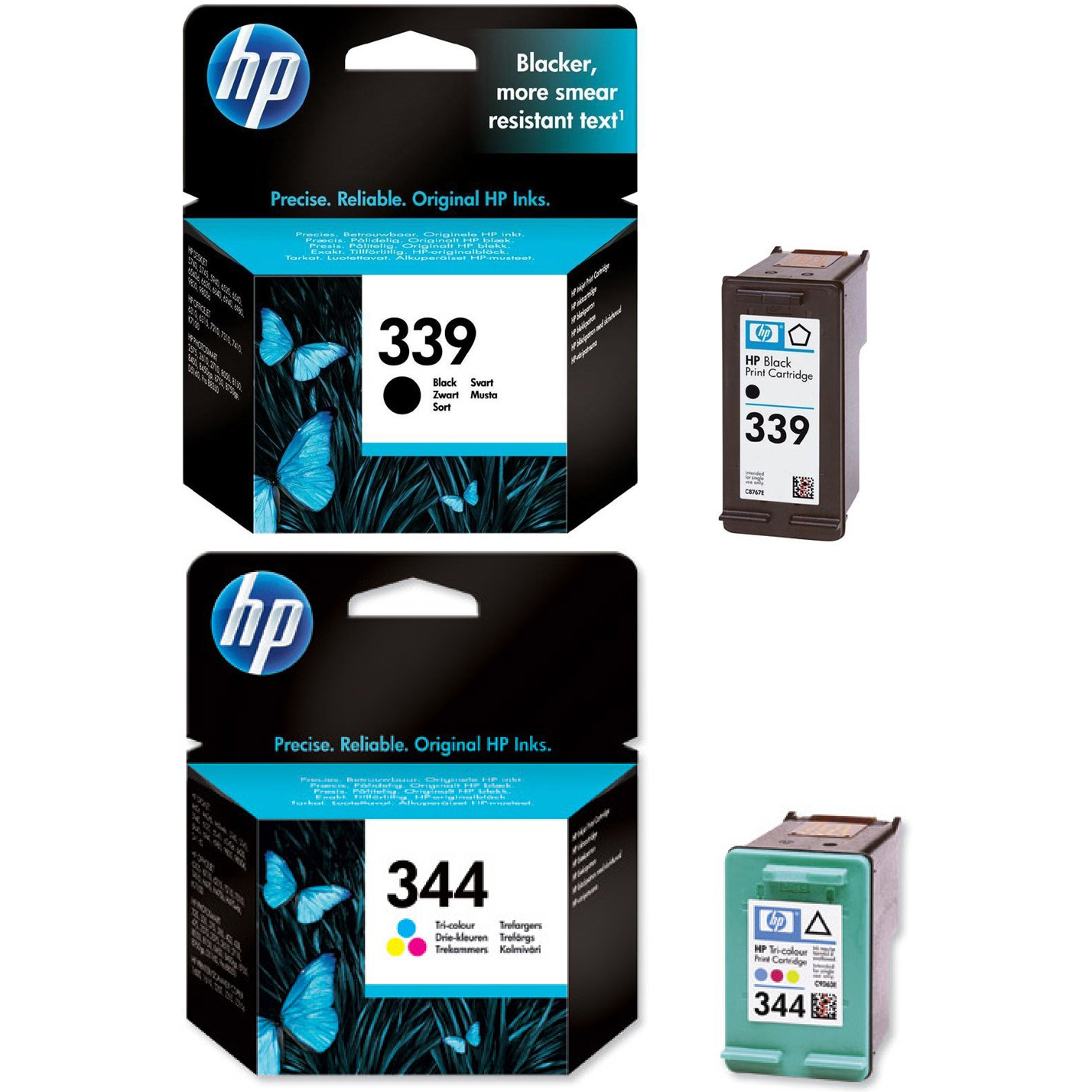 Original HP 339 / 344 Black & Colour Combo Pack Ink Cartridges (C8767EE & C9363EE)
