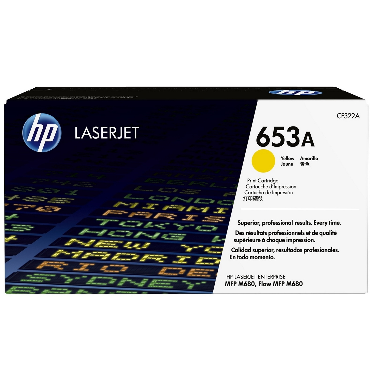 Original HP 653A Yellow Toner Cartridge (CF322A)
