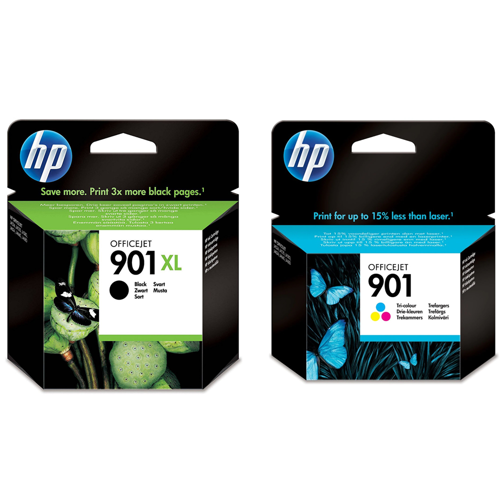 Original HP 901XL / 901 Black & Colour Combo Pack Ink Cartridges (SD519AE)
