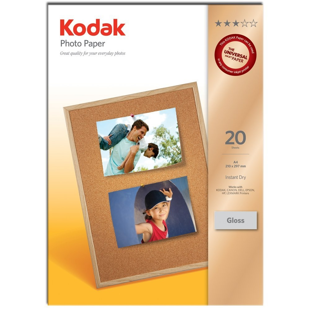 Original Kodak 165gsm A4 Photo Paper - 20 Sheets (3937182)