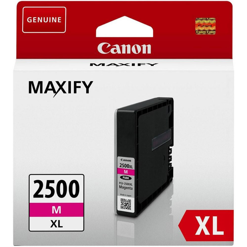 Original Canon PGI-2500MXL Magenta High Capacity Ink Cartridge (9266B001)