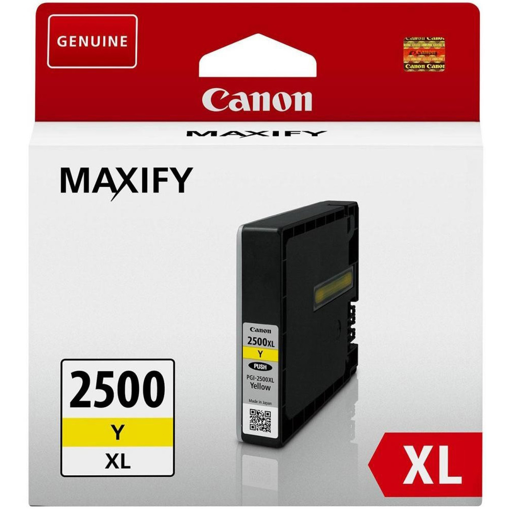 Original Canon PGI-2500YXL Yellow High Capacity Ink Cartridge (9267B001)