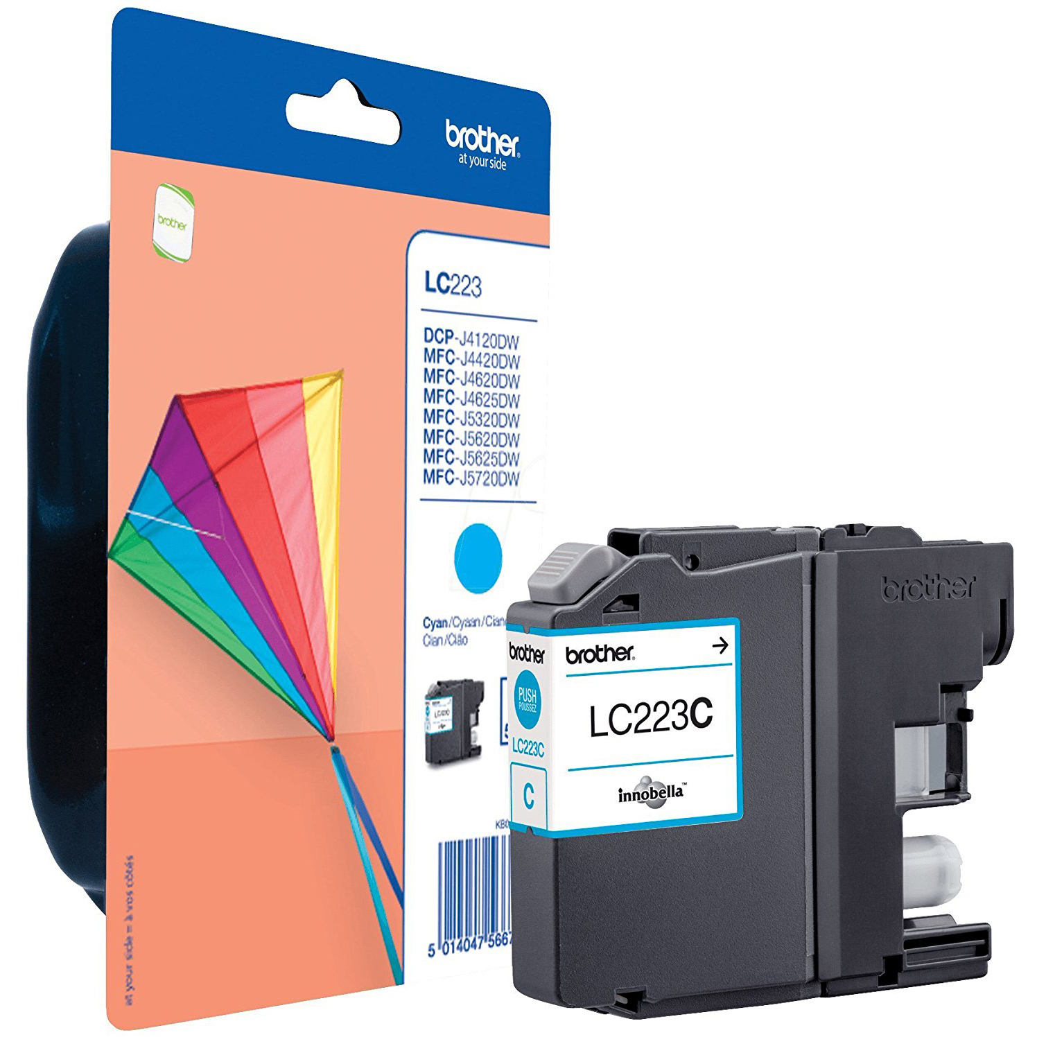 Original Brother LC223 Cyan Ink Cartridge (LC223C)