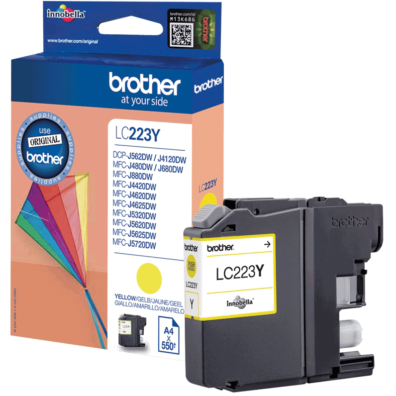 Original Brother LC223 Yellow Ink Cartridge (LC223Y)