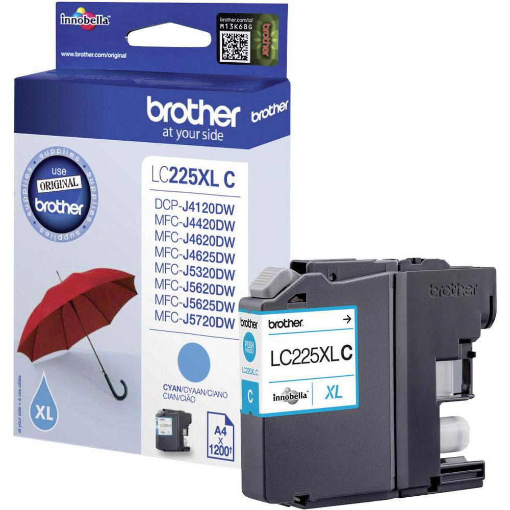 Original Brother LC225XL Cyan High Capacity Ink Cartridge (LC225XLC)