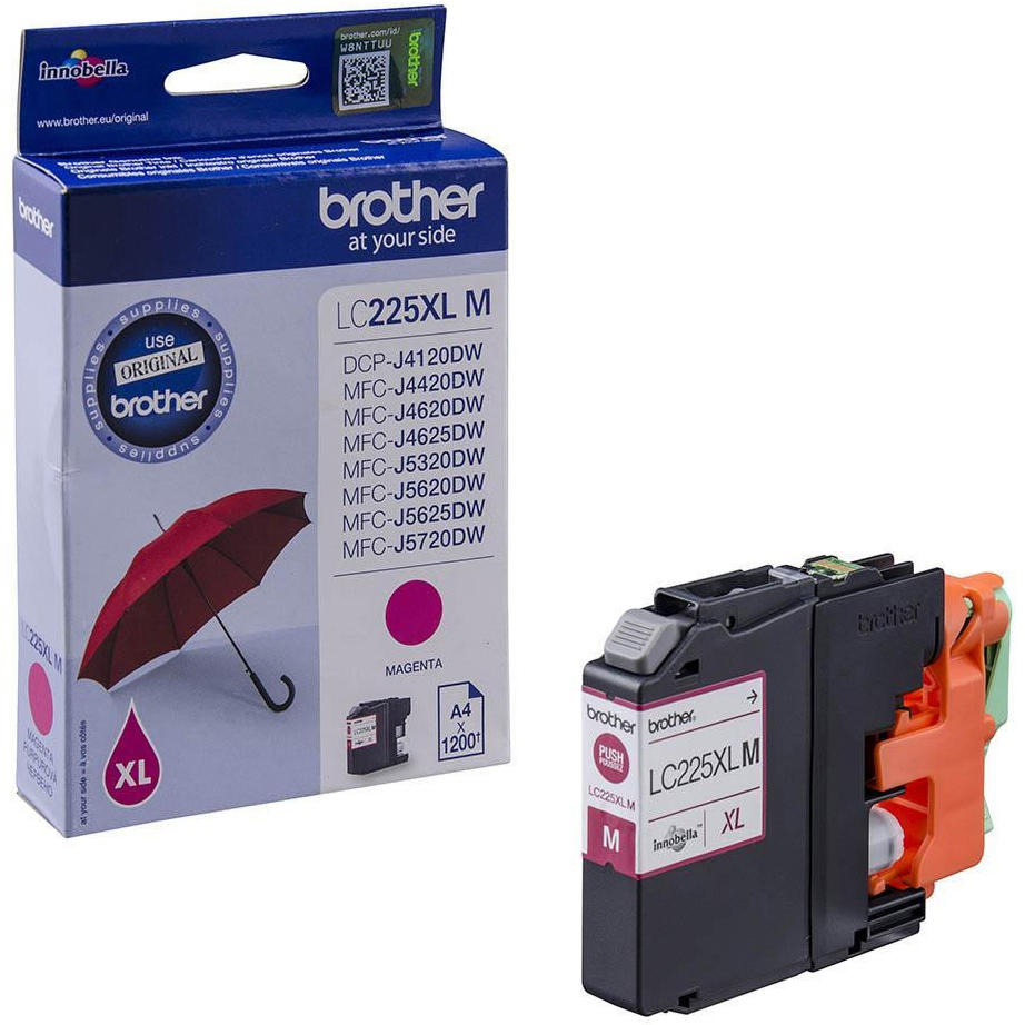 Original Brother LC225XL Magenta High Capacity Ink Cartridge (LC225XLM)
