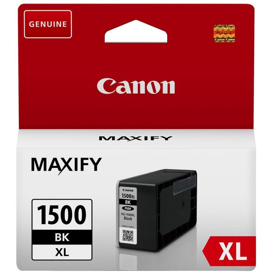 Original Canon PGI-1500BKXL Black High Capacity Ink Cartridge (9182B001)