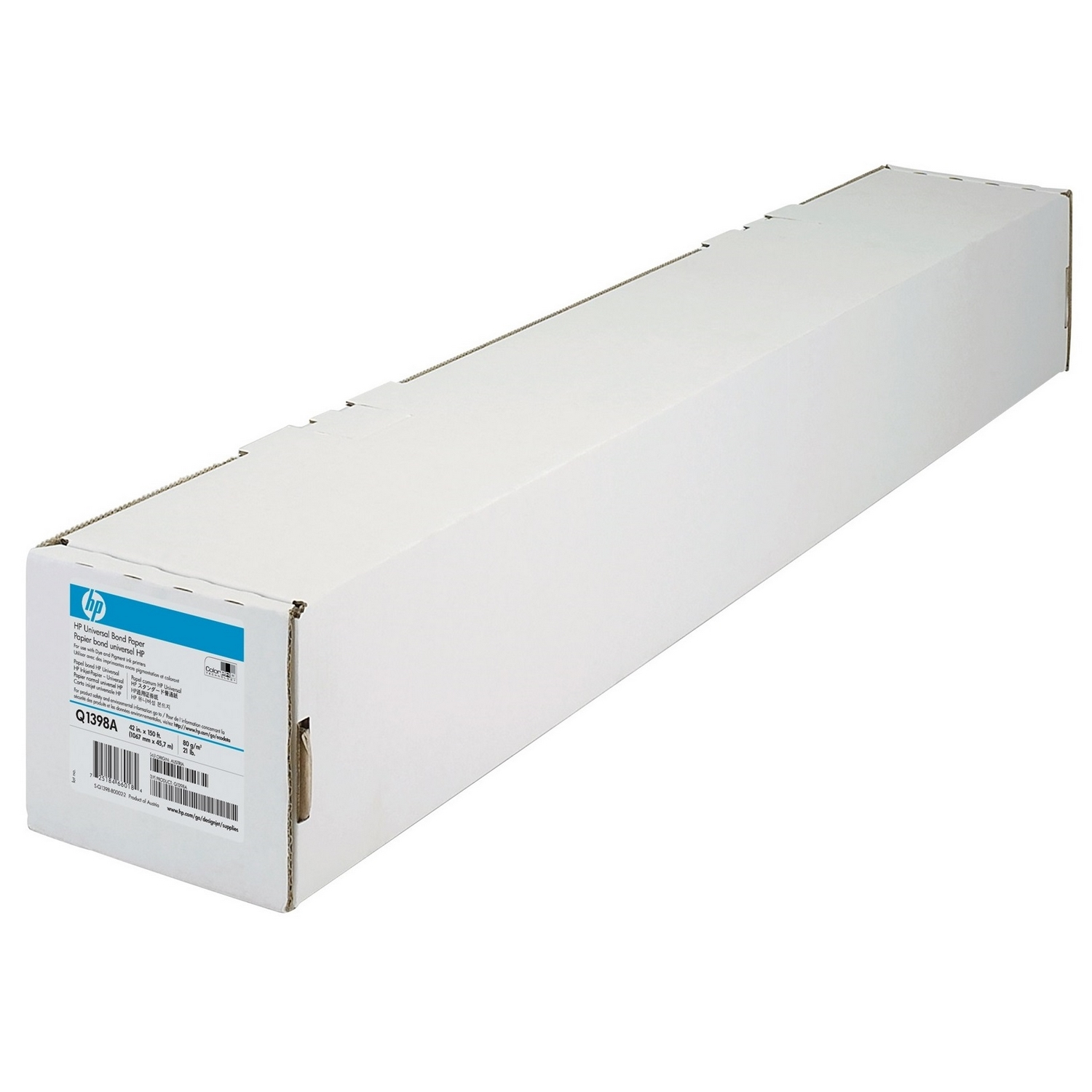 Original HP Q1398A 80gsm 42in x 150ft Paper Roll (Q1398A)