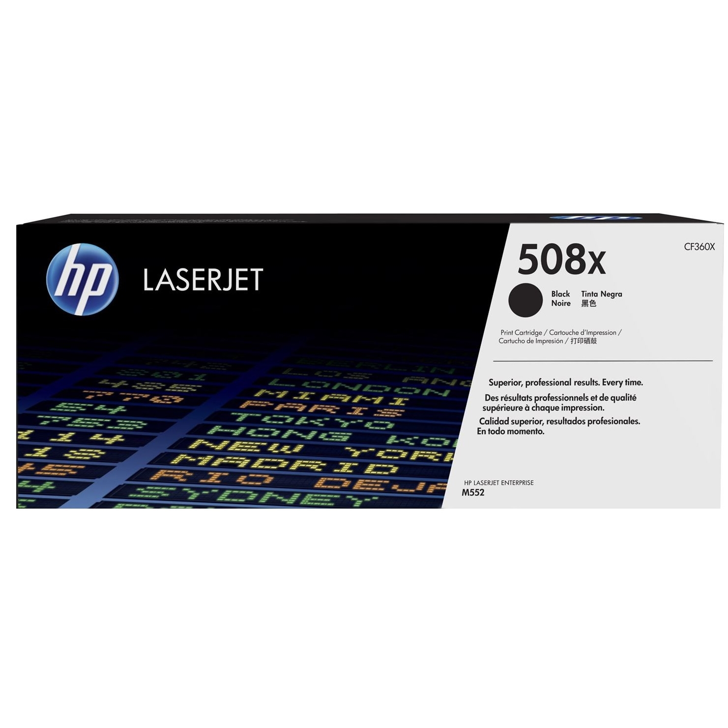 Original HP 508X Black High Capacity Toner Cartridge (CF360X)