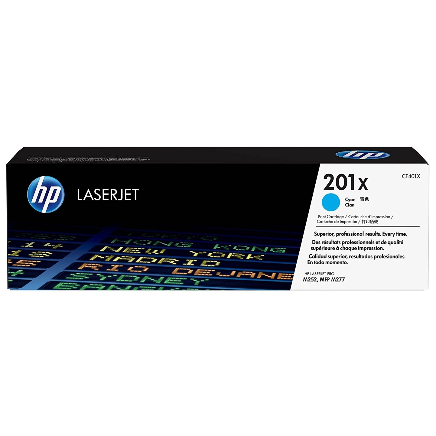 Original HP 201X Cyan High Capacity Toner Cartridge (CF401X)