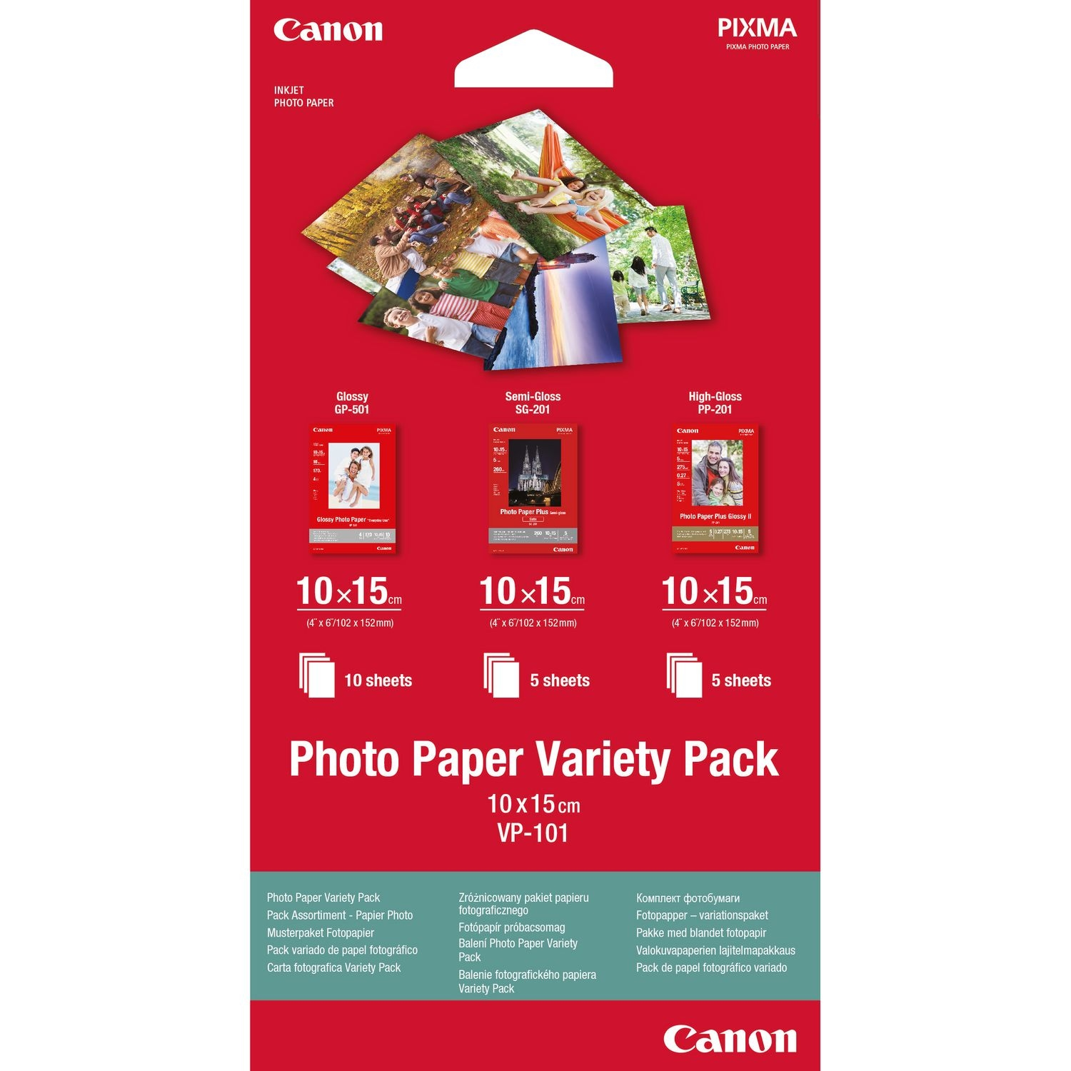 Original Canon VP-101 A6 Photo Paper - 15 Sheets (0775B078)