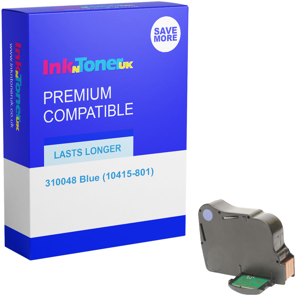 Premium Remanufactured Neopost 310048 Blue Franking Ink Cartridge (10415-801)