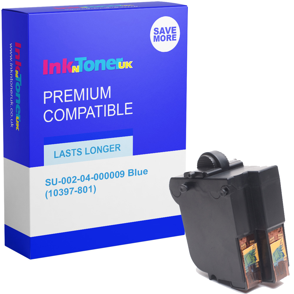 Premium Remanufactured Frama SU-002-04-000009 Blue Franking Ink Cartridge (10397-801)