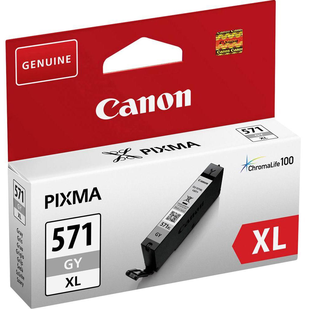 Original Canon CLI-571GYXL Grey High Capacity Ink Cartridge (0335C001)