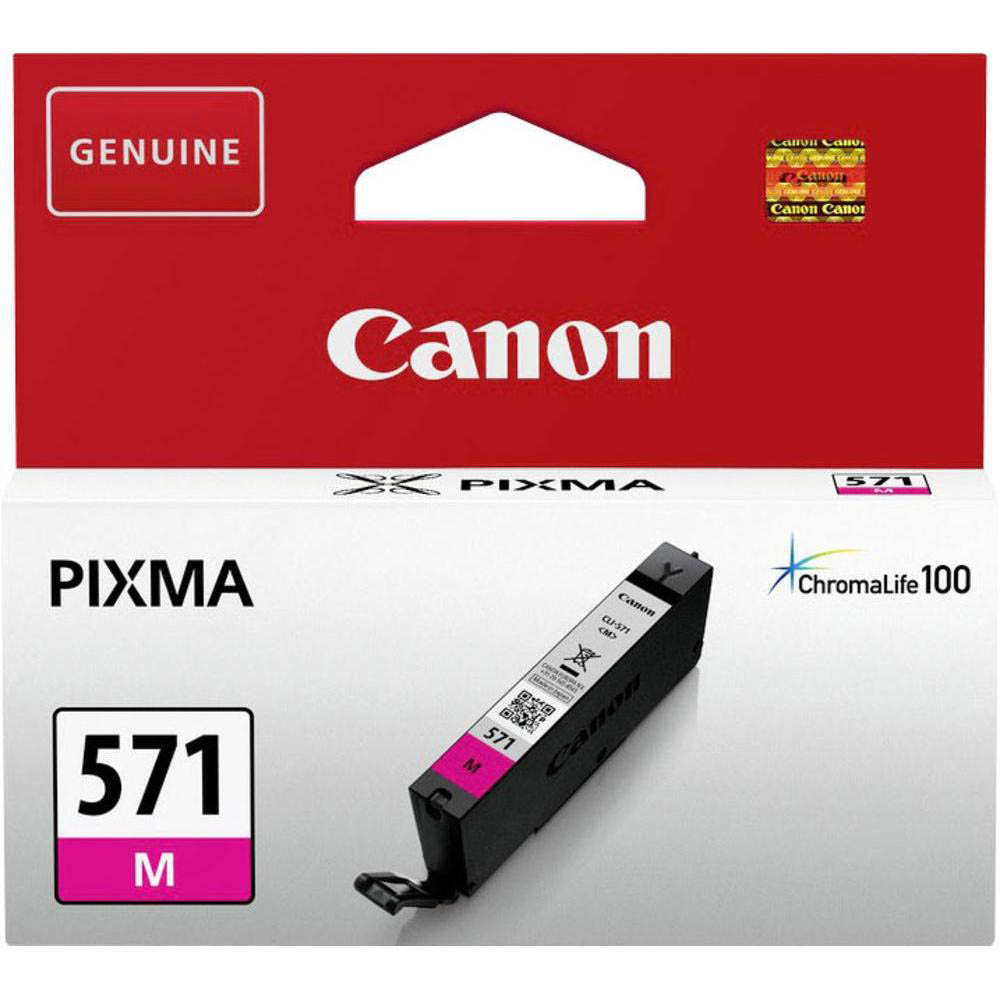 Original Canon CLI-571M Magenta Ink Cartridge (0387C001)
