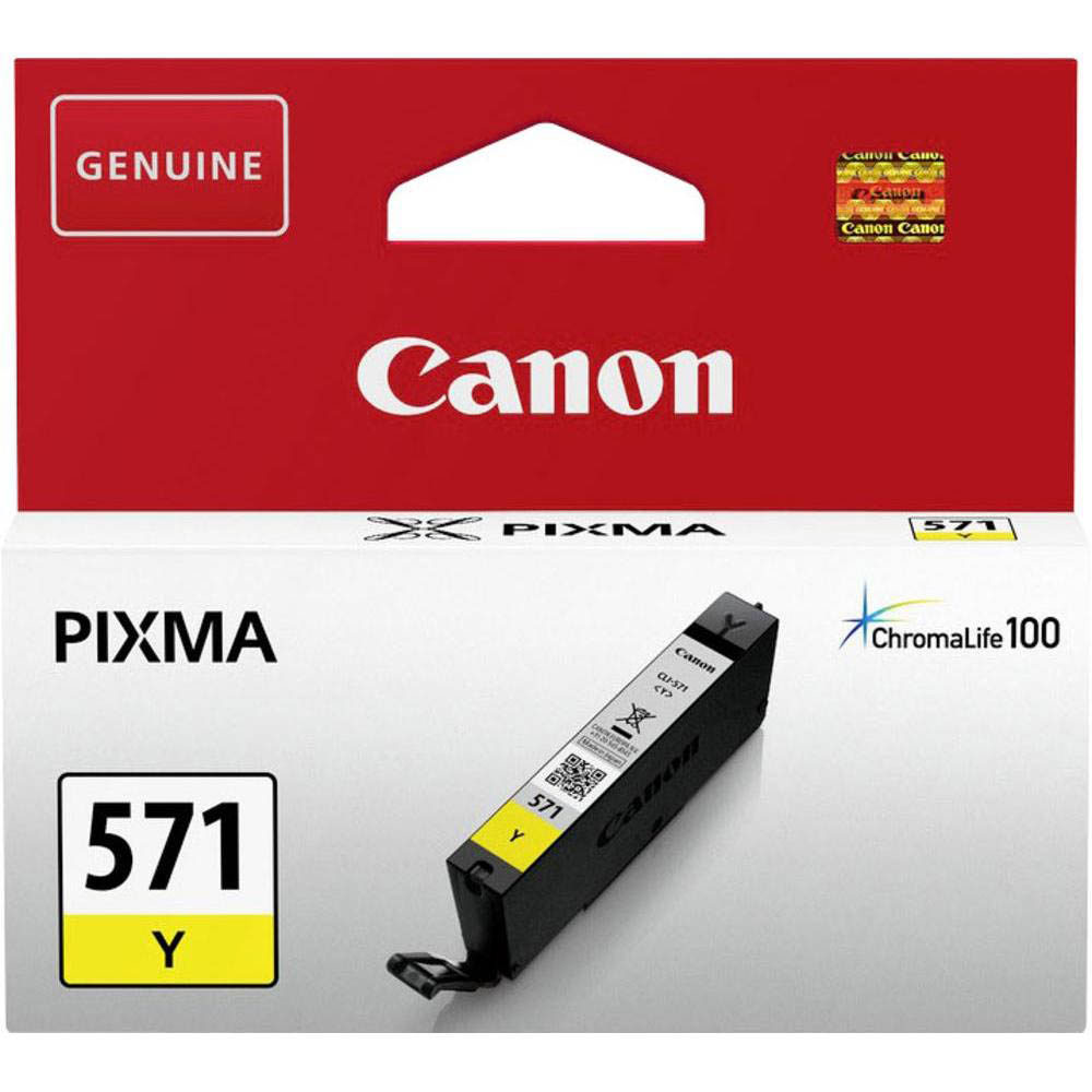 Original Canon CLI-571Y Yellow Ink Cartridge (0388C001)