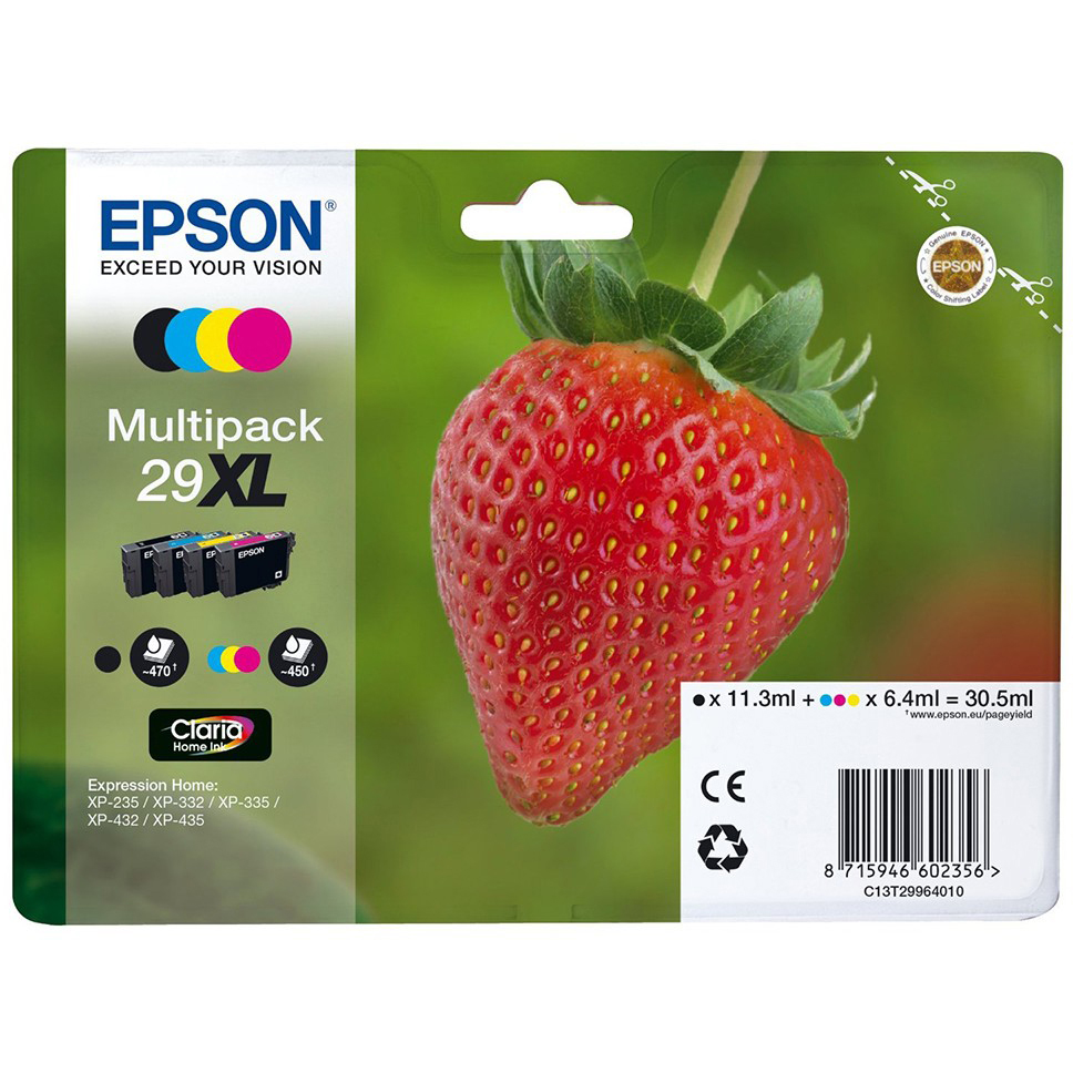 Original Epson 29XL CMYK High Capacity Multipack Ink Cartridges (C13T29964012)