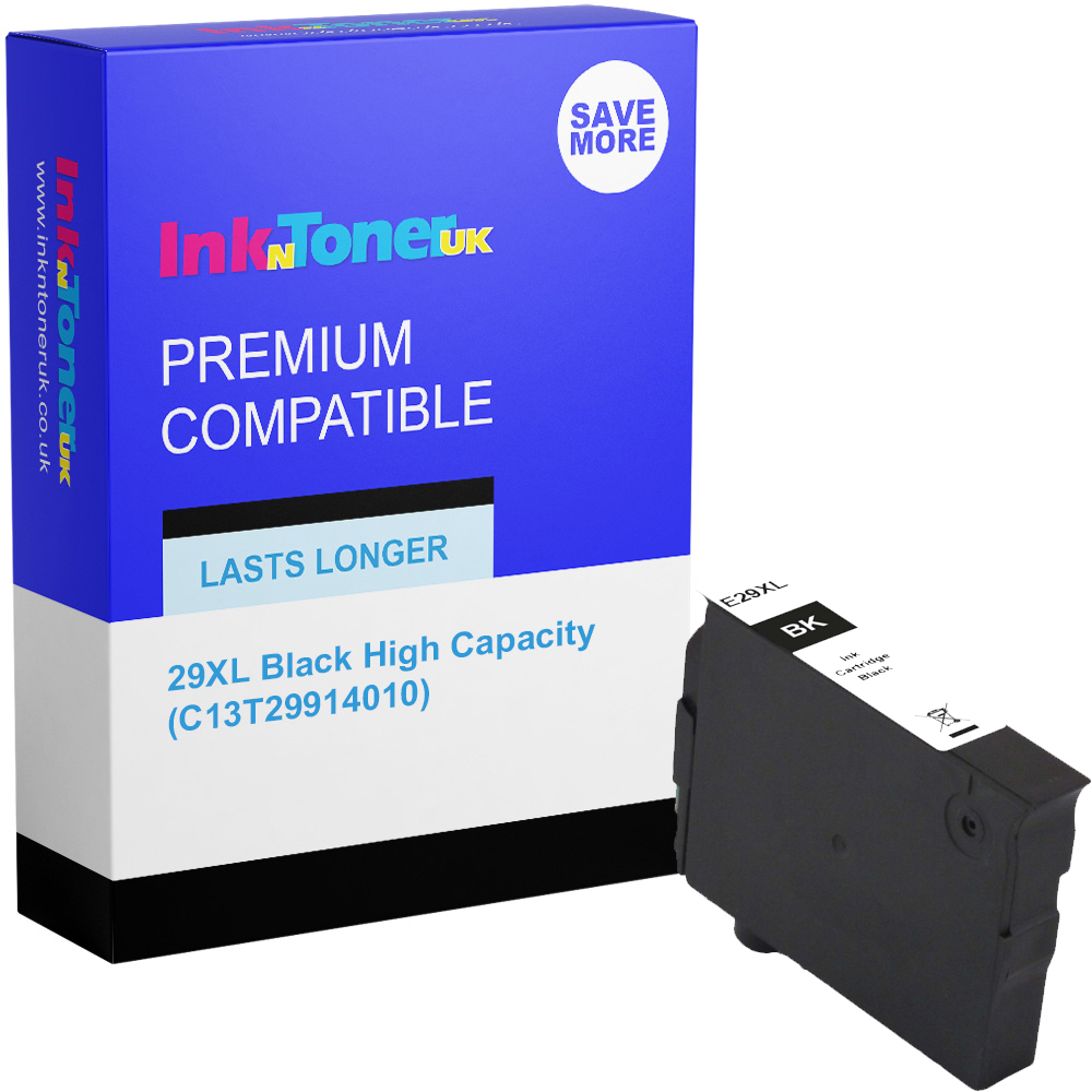 Premium Compatible Epson 29XL Black High Capacity Ink Cartridge (C13T29914010)