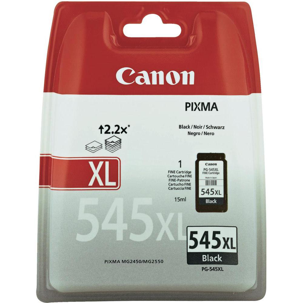 Original Canon PG-545XL Black High Capacity Ink Cartridge (8286B001)