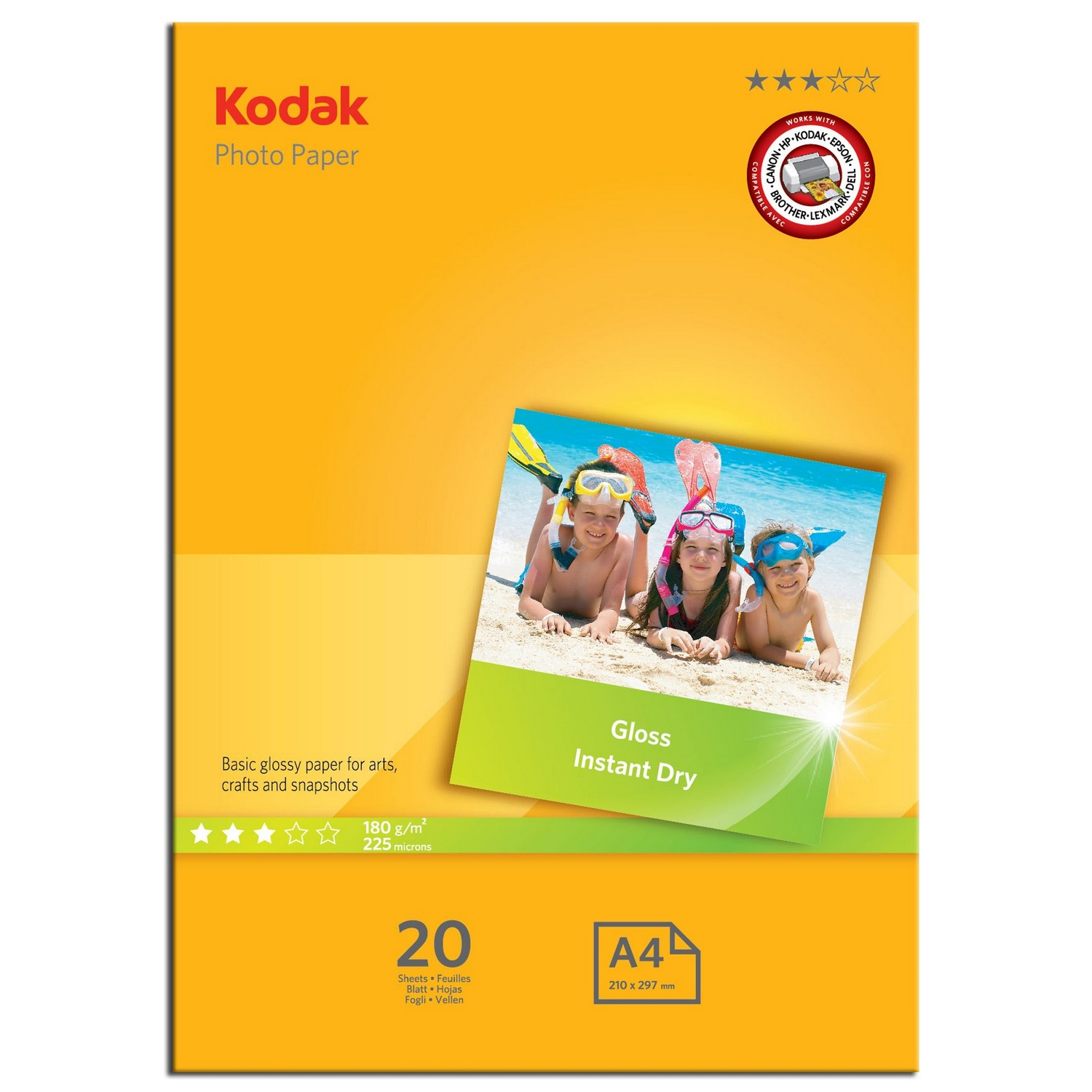 Original Kodak 180gsm A4 Photo Paper - 20 Sheets (5740512)