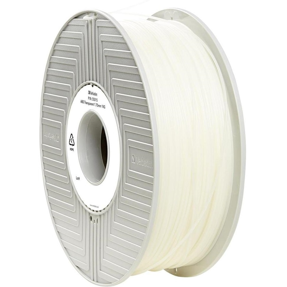 Original Verbatim Transparent 1.75mm 1kg ABS 3D Filament (55015)