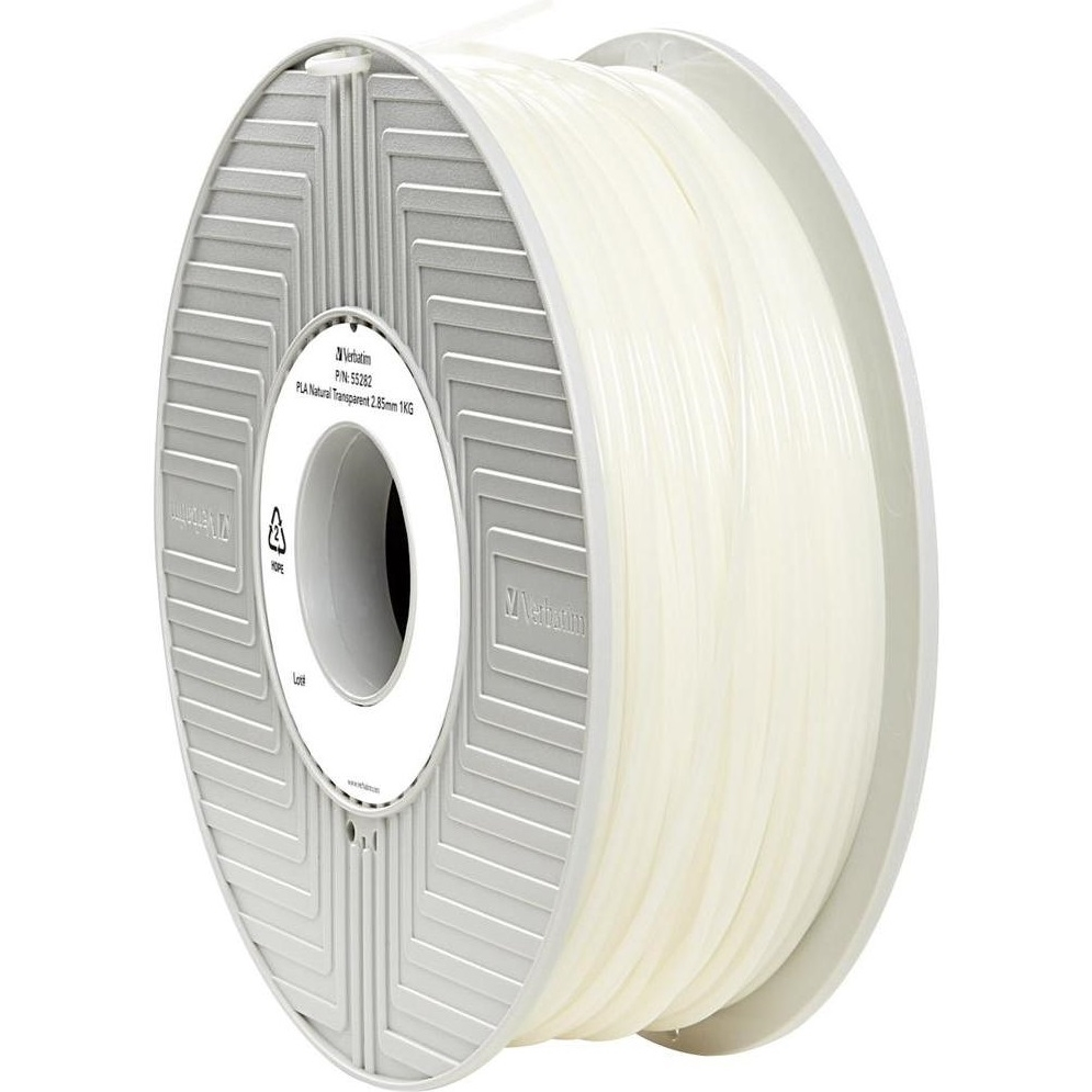 Original Verbatim Natural Transparent 2.85mm 1kg PLA 3D Filament (55282)