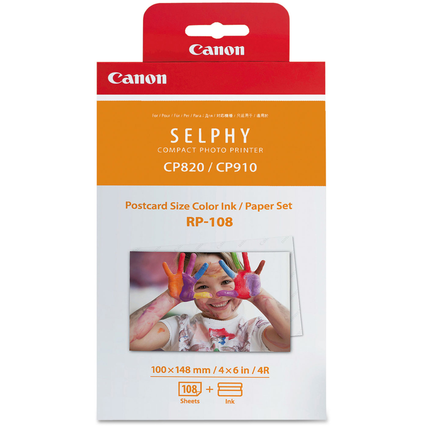 Original Canon RP-108IP Colour Ink Cartridge 2 Cartridges Per Pack + Photo Paper (8568B001)