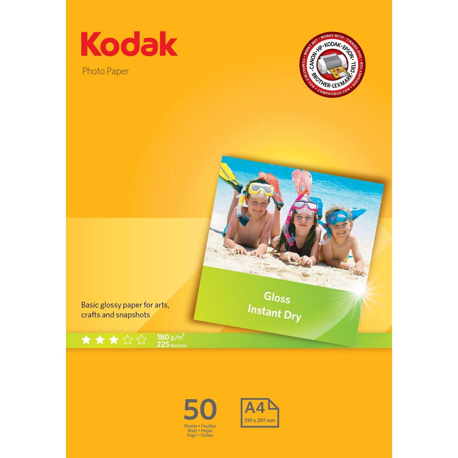 Original Kodak 180gsm A4 Gloss Photo Paper - 50 Sheets (5740-513)