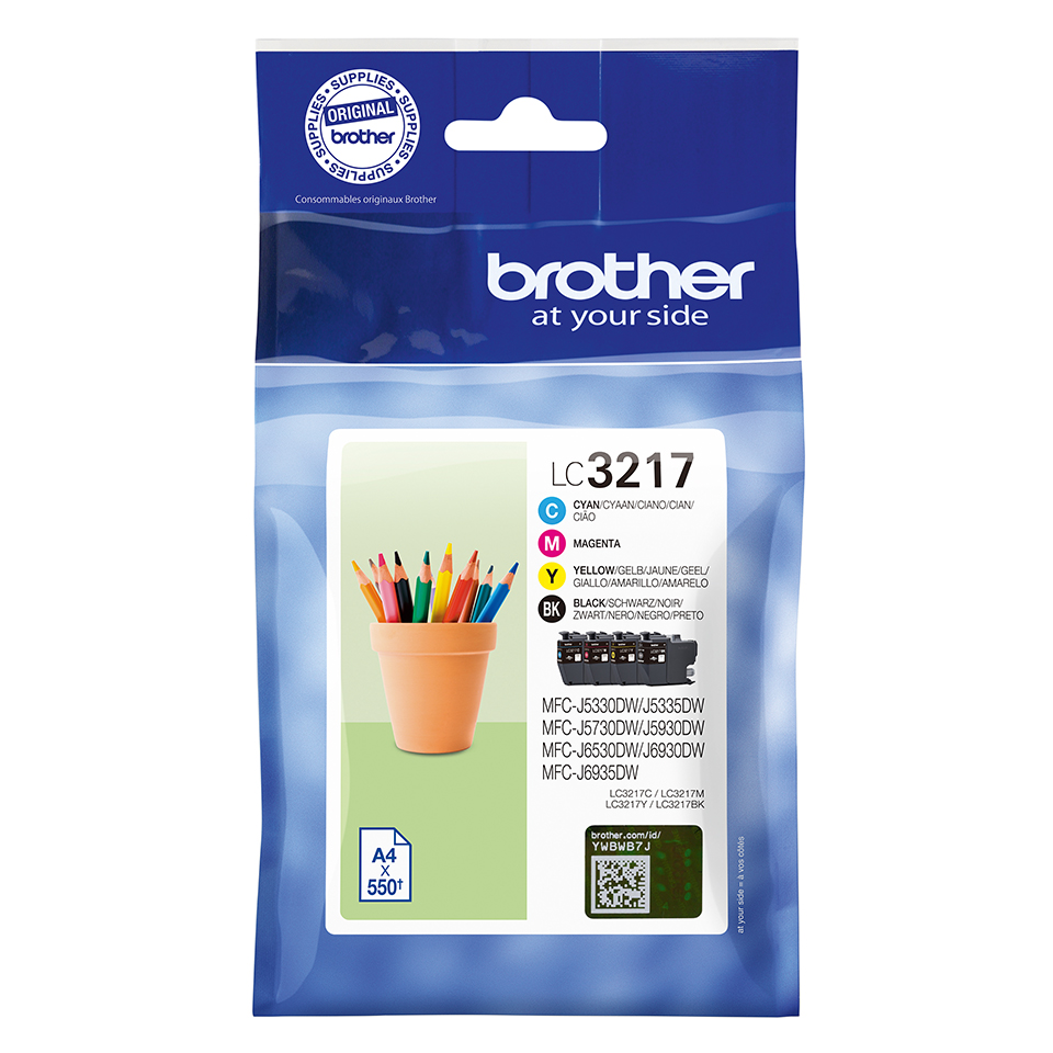 Original Brother LC3217 CMYK Multipack Ink Cartridges (LC3217VAL)