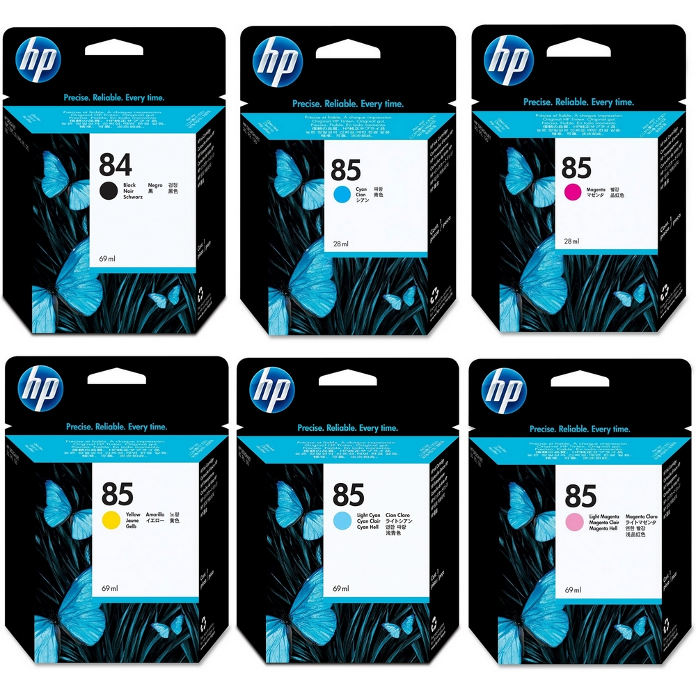 Original HP 84 / 85 Multipack Set Of 6 Ink Cartridges (C5016A/ C9425A/ C9426A/ C9427A/ C9428A/ C9429A)