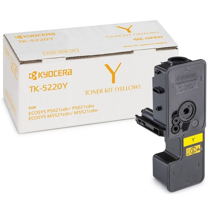 Original Kyocera TK-5220Y Yellow Toner Cartridge (1T02R9ANL1)
