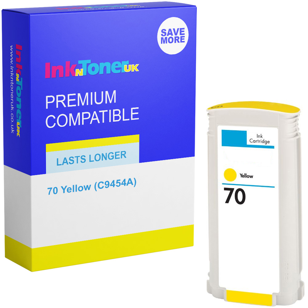 Premium Remanufactured HP 70 Yellow Ink Cartridge (C9454A)