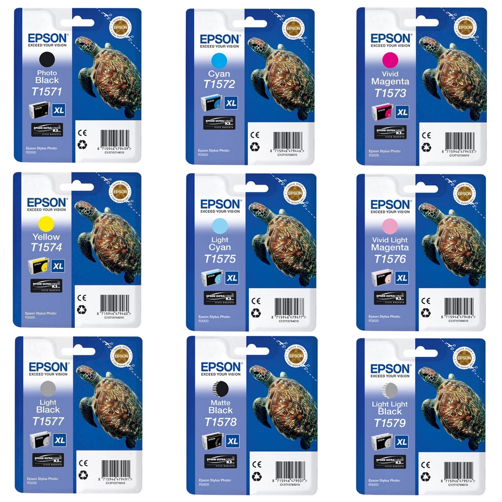 Original Epson T157 Multipack Set Of 9 Ink Cartridges (T1571/2/3/4/5/6/7/8/9)
