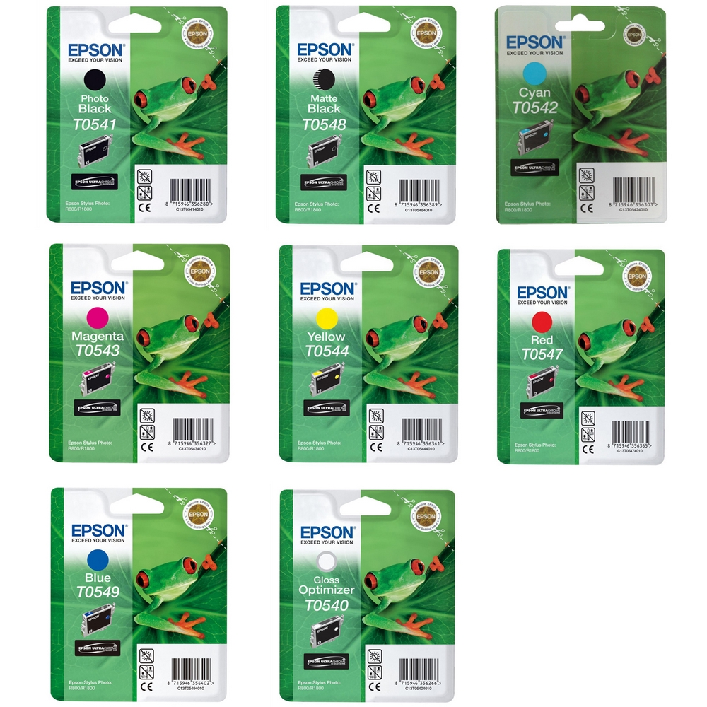 Original Epson T054 Multipack Set Of 8 Ink Cartridges (T0541/2/3/4/7/8/9/0)