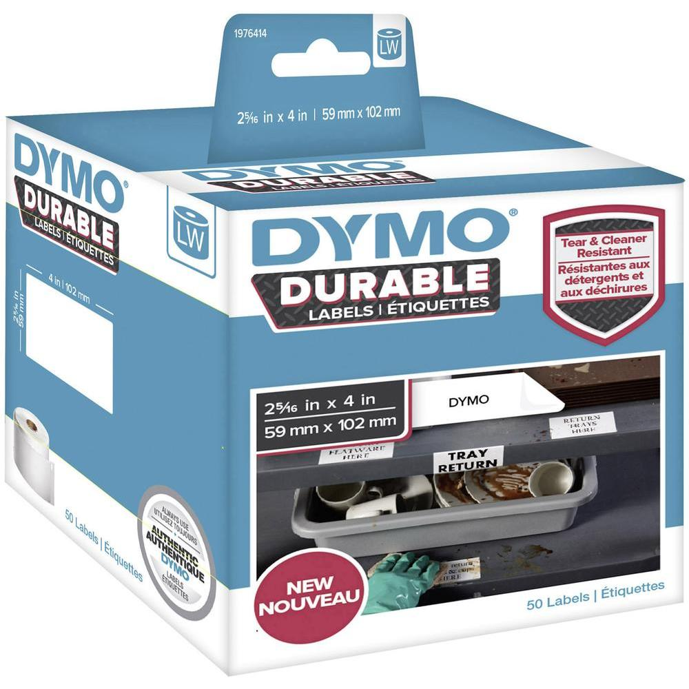 Original Dymo 1976414 White 59mm x 102mm Durable Label Roll Tape - 50 Labels (1976414)