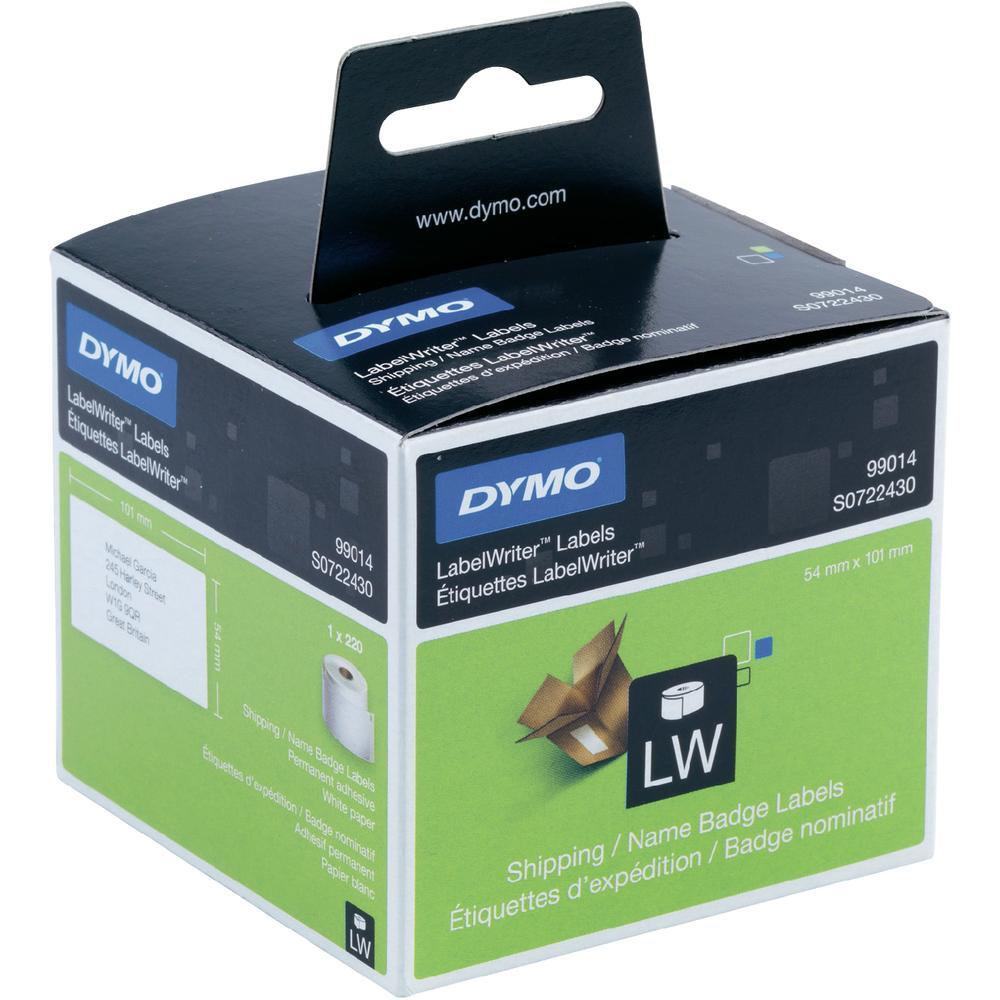 Original Dymo 99014 White 101mm x 54mm Shipping / Name Badge Label Tape - 220 Labels (S0722430)