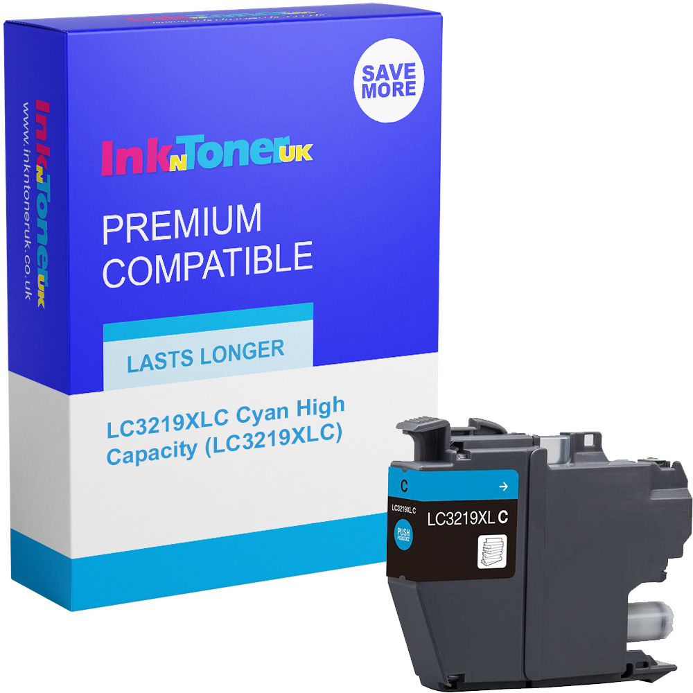 Premium Compatible Brother LC3219XLC Cyan High Capacity Ink Cartridge (LC3219XLC)