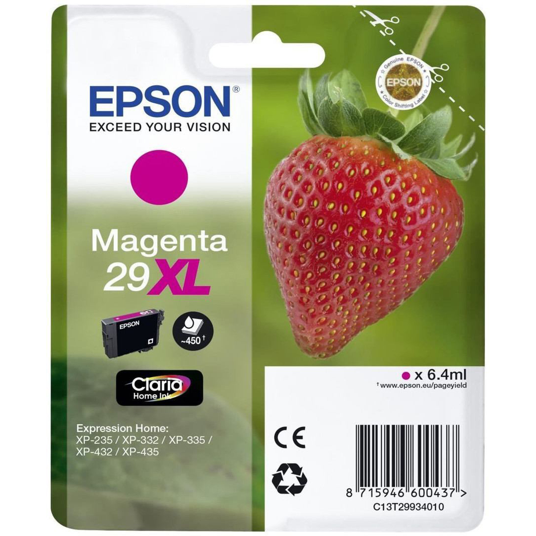 Original Epson 29XL Magenta High Capacity Ink Cartridge (C13T29934012)