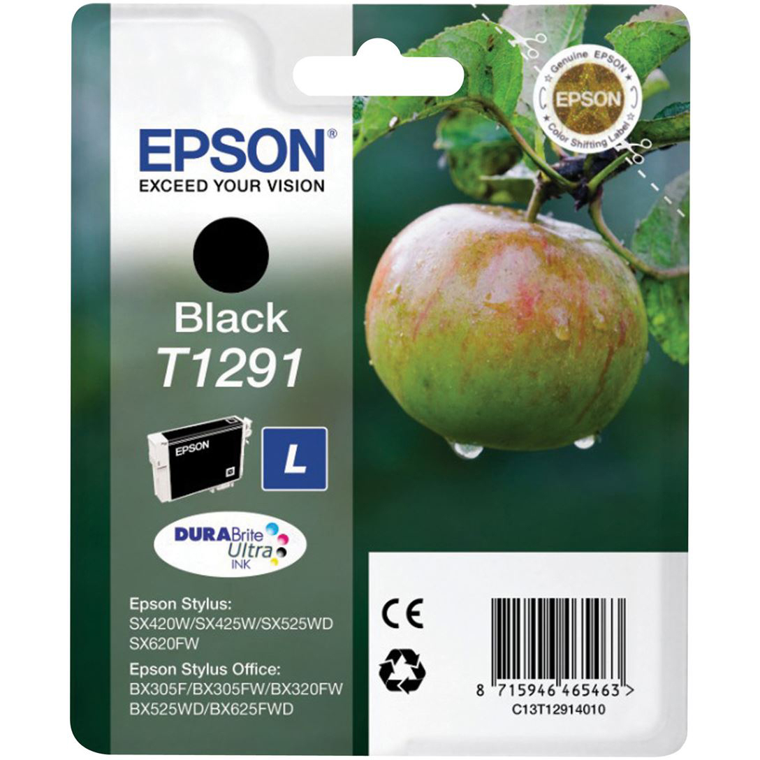 Original Epson T1291 Black Ink Cartridge (C13T12914012)