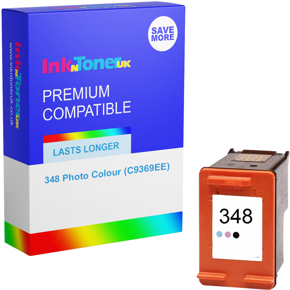 Premium Remanufactured HP 348 Photo Colour Ink Cartridge (C9369EE)