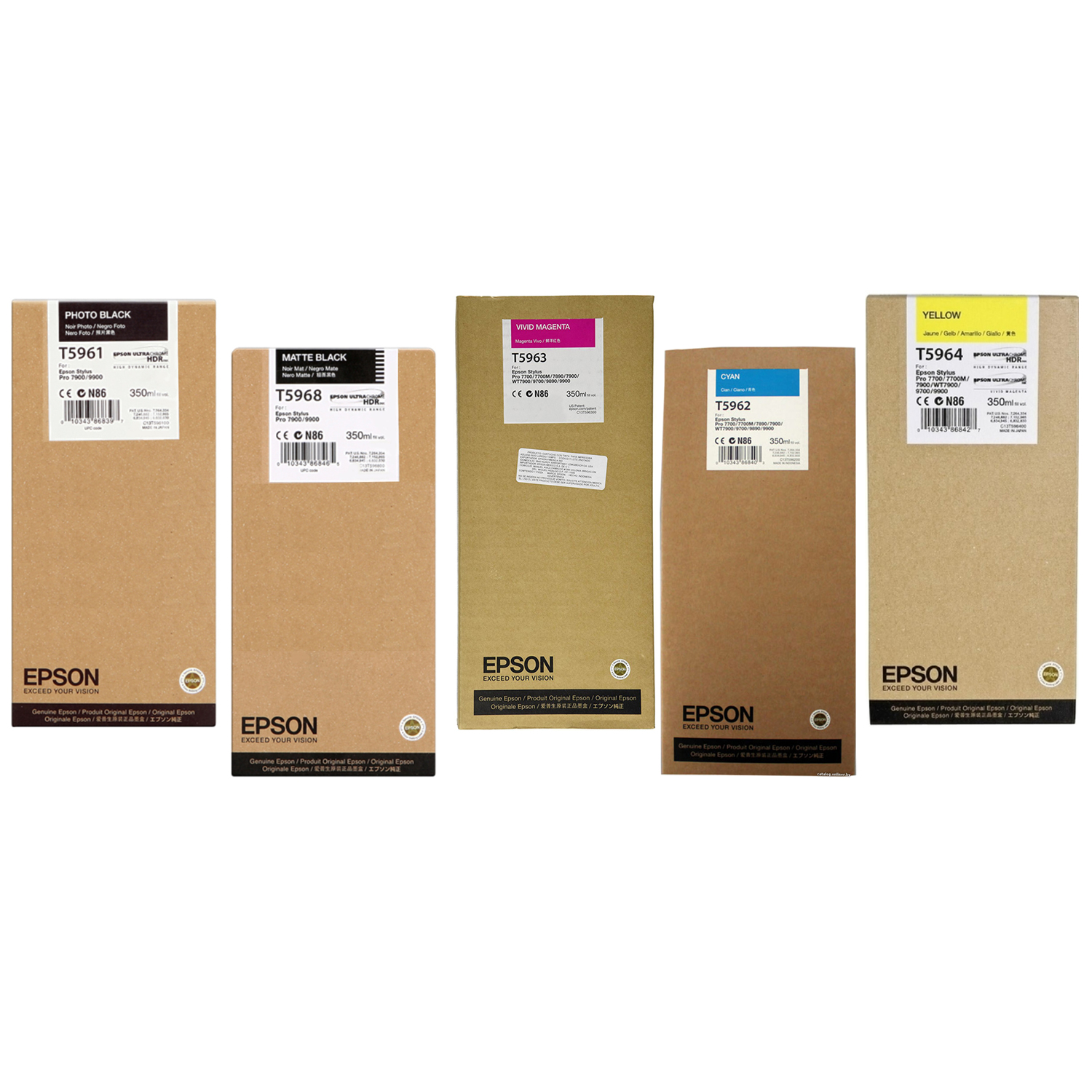 Original Epson T596 C, M, Y, PBK, MBK Multipack Ink Cartridges (T5961 / T5968 / T5962 / T5963 / T5964)