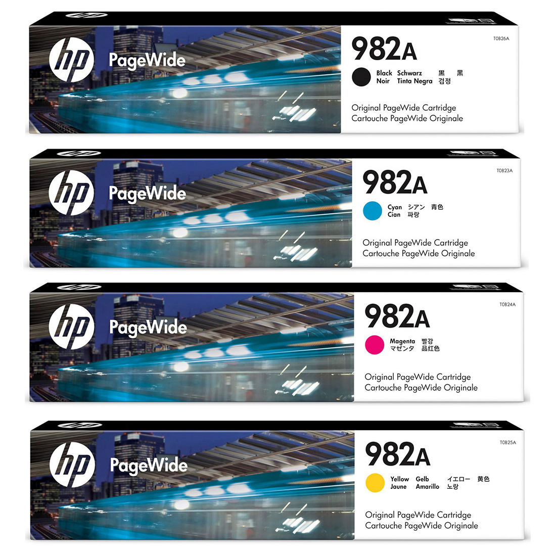 Original HP 982A CMYK Multipack Ink Cartridges (T0B26A/ T0B23A/ T0B24A/ T0B25A)