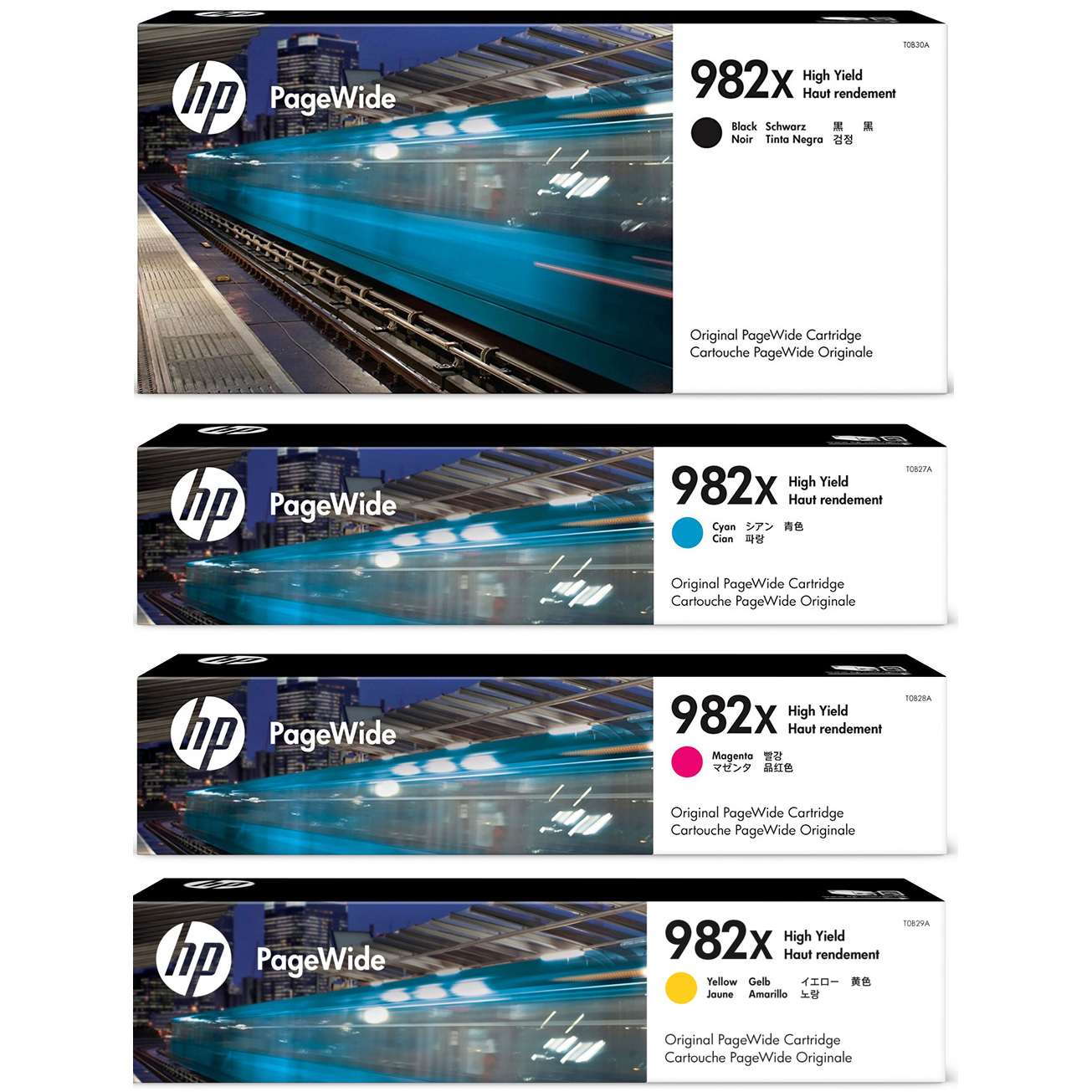 Original HP 982X CMYK Multipack High Capacity Ink Cartridges (T0B30A/ T0B27A/ T0B28A/ T0B29A)