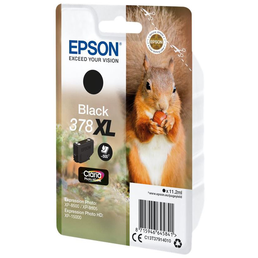 Original Epson 378XL Black High Capacity Ink Cartridge (C13T37914010)