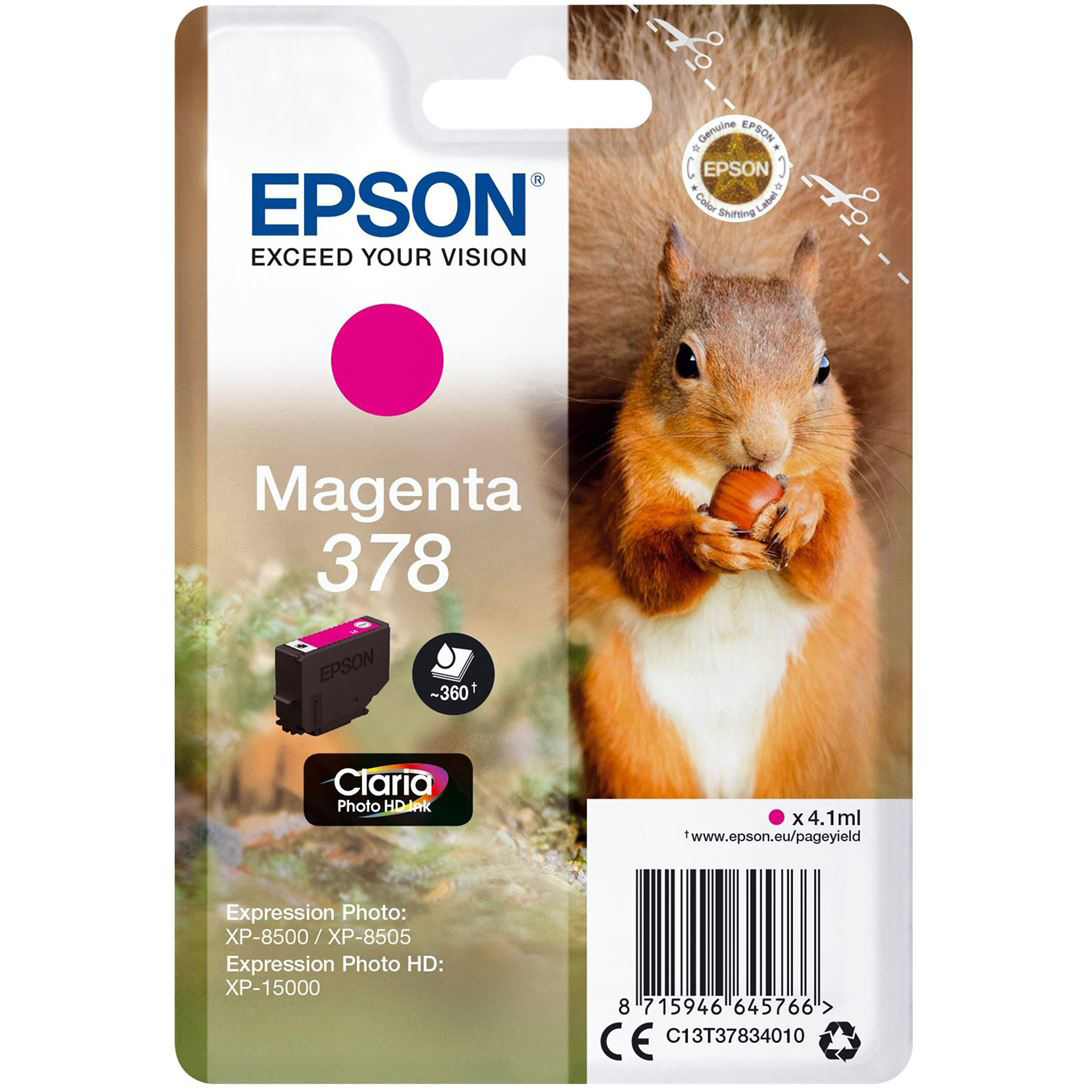 Original Epson 378 Magenta Ink Cartridge (C13T37834010)