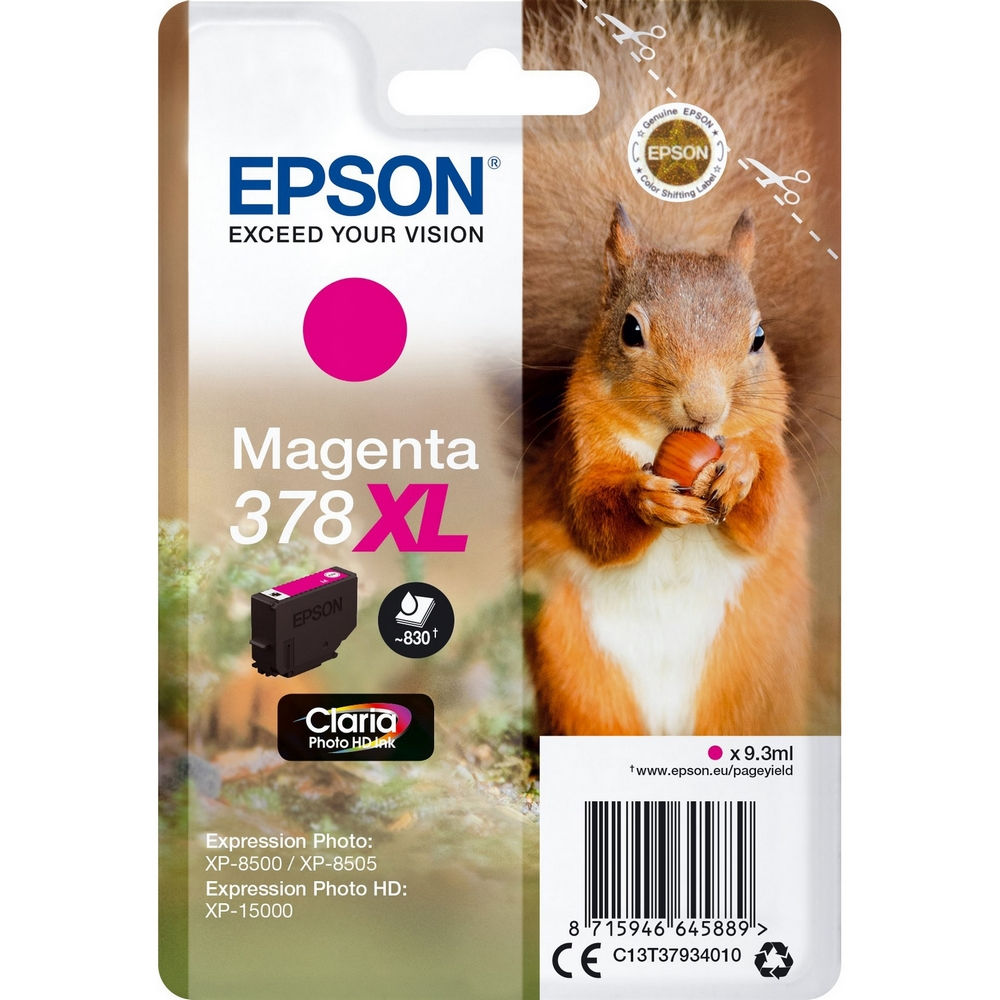 Original Epson 378XL Magenta High Capacity Ink Cartridge (C13T37934010)