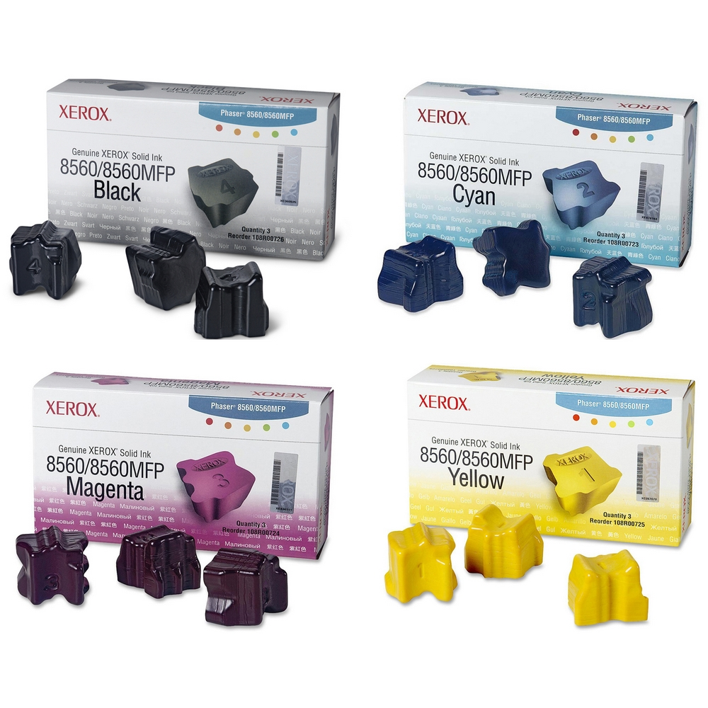 Original Xerox 108R0072 CMYK Multipack Set Of 12 Solid Inks (108R00726 /108R00724 /108R00723 /108R00725)