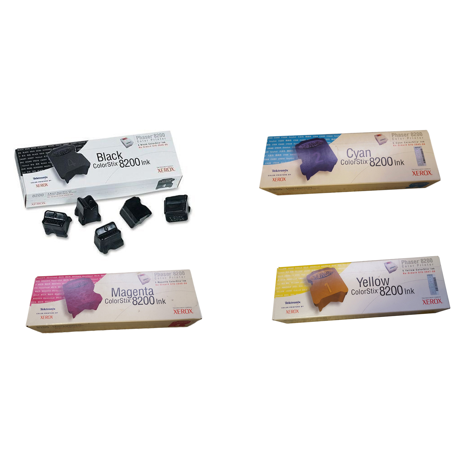 Original Xerox 16204 CMYK Multipack Set Of 20 Solid Inks (016204000 /016204500 /016204600 /016204700)