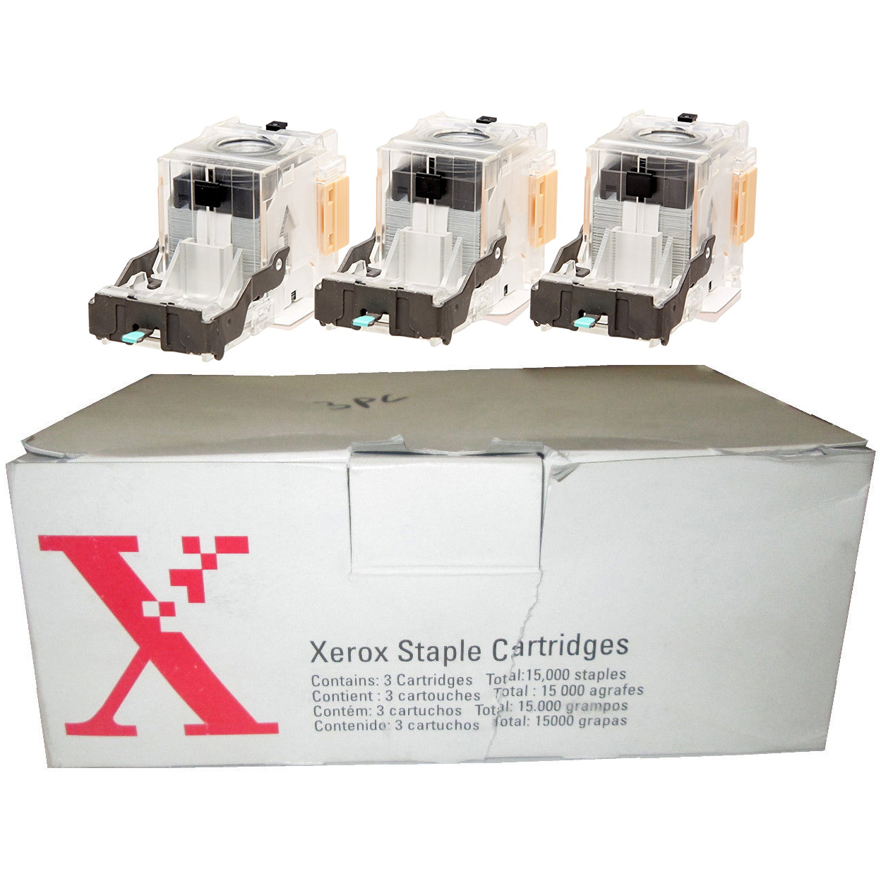 Original Xerox 108R00493 Staple Cartridge - 3 Cartridges Per Carton (108R00493)